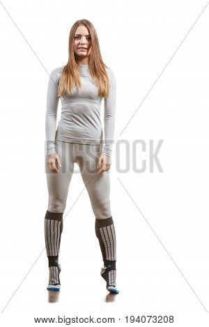 Fit Female Wearing Thermoactive Underwear