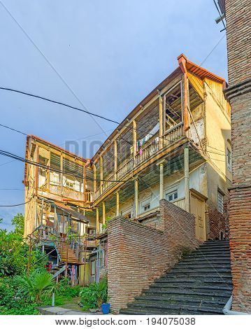 The Old Street Stairs In Tbilisi