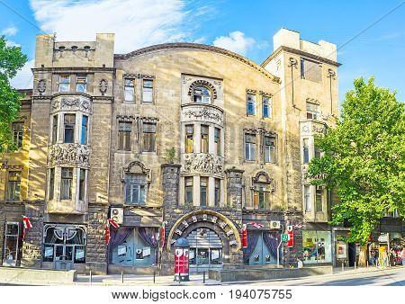 The Art Nouveau Edifice In Rustaveli Avenue Of Tbilisi