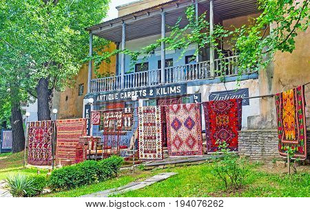 The Antique Carpets In Tbilisi