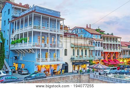 Architecture Of Abanotubani District In Tbilisi