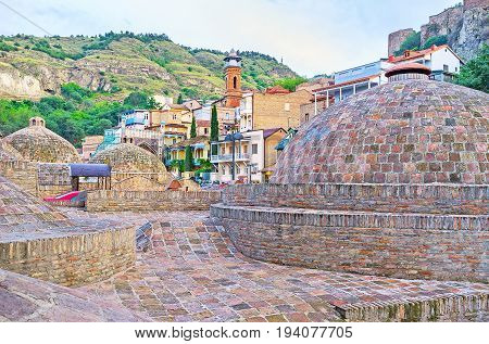 The Domes Of Old Tbilisi Baths