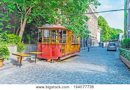 The Old Tram In Tbilisi