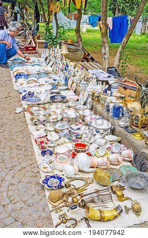 Antique Bazaar In Tbilisi