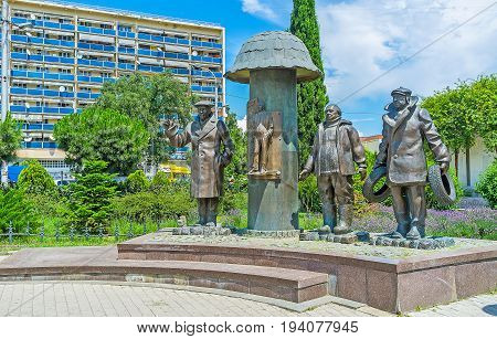 The Statue Of Favorite Movie Characters In Tbilisi