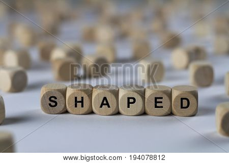 Shaped - Cube With Letters, Sign With Wooden Cubes