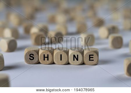 Shine - Cube With Letters, Sign With Wooden Cubes