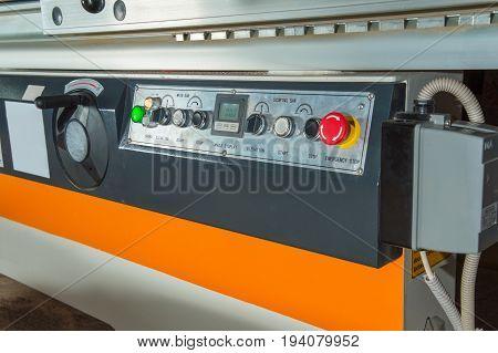 professional machine control panel for circular cutting wood and hardboard