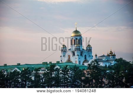 Yekaterinburg, Russia - June 2, 2017: The Church On Blood In Honour Of All Saints Resplendent In The