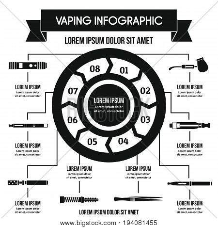 Vaping infographic banner concept. Simple illustration of vaping infographic vector poster concept for web
