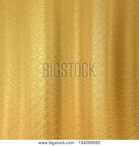 3d rendering golden plate background or gold brushed background