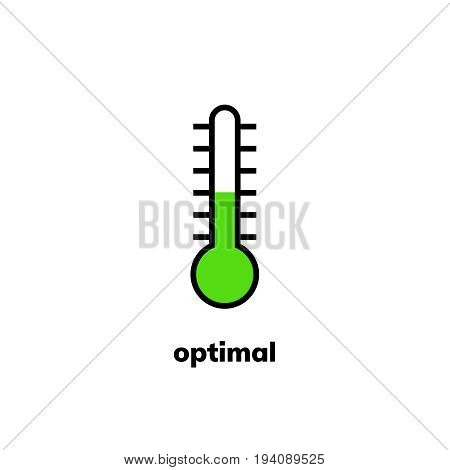 Temperature Icon, Vector Clip Art