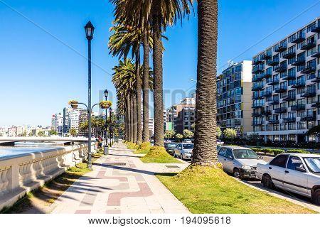 La Marina Embankment In Vina Del Mar, Chile