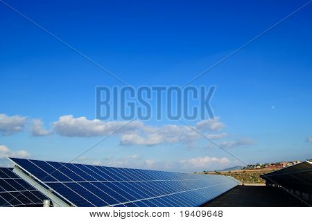 Solar power plants. Solar panels in south of Spain