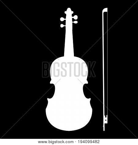 Violin  The White Color Icon .