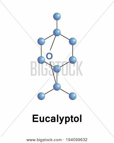 Eucalyptol is a natural organic compound that is a colorless liquid. It is a cyclic ether and a monoterpenoid.