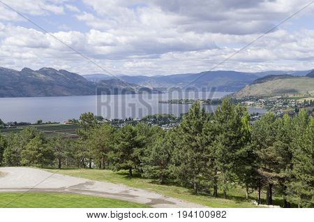 Okanagan Lake from high on Mission Road in Kelowna BC