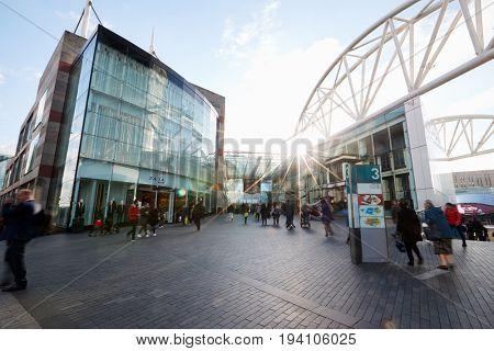 Birmingham, UK - 6 November 2016: Exterior Of The Bullring Shopping Centre In Birmingham UK