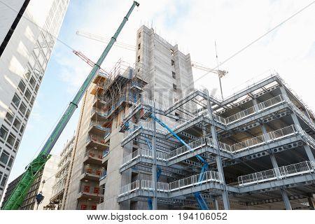 Birmingham, UK - 6 November 2016: Construction Site In Birmingham City Centre
