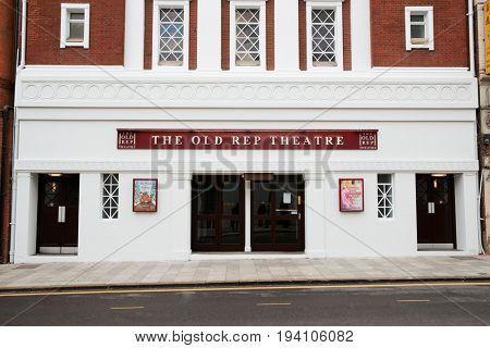Birmingham, UK - 6 November 2016: Exterior Of The Birmingham Old Rep Theatre Building