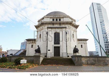 Birmingham, UK - 6 November 2016: Exterior Of The Hall Of Memory War Memorial In Birmingham