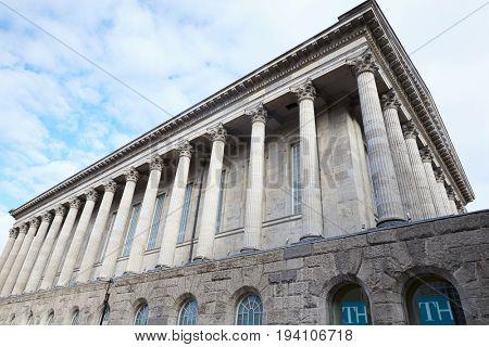 Birmingham, UK - 6 November 2016: Exterior Of Birmingham Town Hall Building