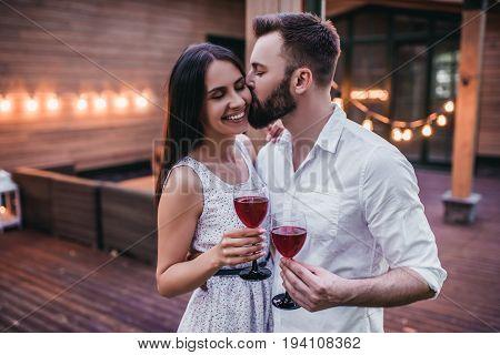 Couple On Terrace