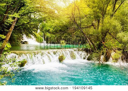 unesco world heritage - waterfalls in Plitvice lakes national park
