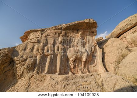 Naqsh-e Rajab is an archaeological site and part of the Marvdasht cultural complex about 12 km north of Persepolis in Fars Province Iran poster