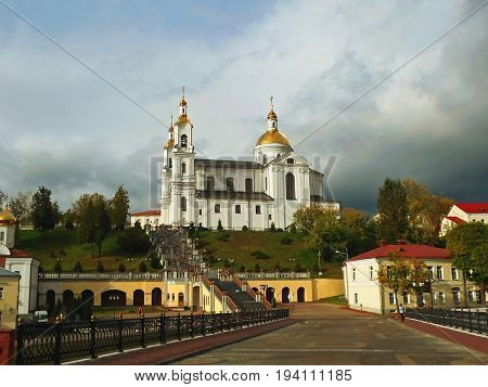 Assumption Cathedral in Vitebsk, one of the most unique churches in Belarus - september 2016