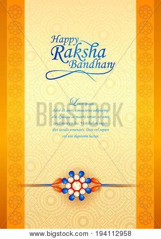 vector illustration of decorated rakhi for Indian festival Raksha Bandhan