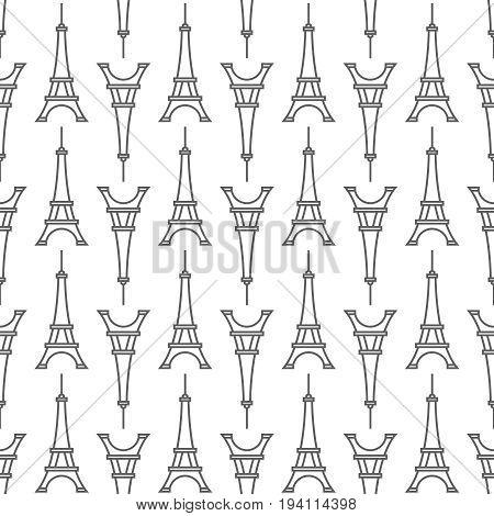 The Eiffel Tower Seamless Pattern
