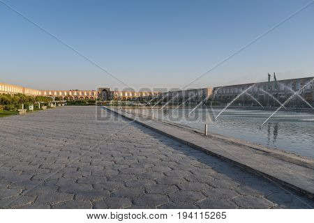 Naqsh-e Jahan Square (Imam Square) one of UNESCO World Heritage Sites in Isfahan (Esfahan) Iran