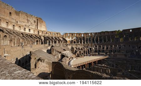 ROME, ITALY - SEPTEMBER15, 2011: Colosseum(Colosseo) is the largest amphitheatre in the world located in the centre of Rome, Italy.