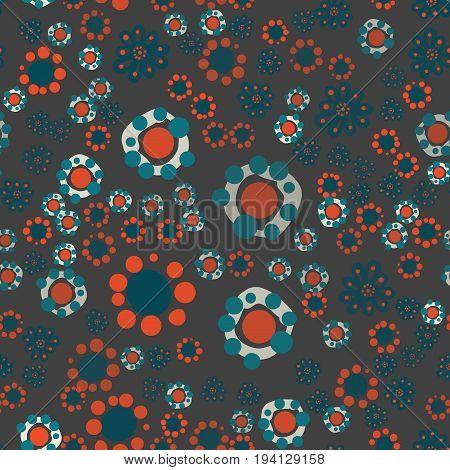 Childish Seamless ornamental stylized floral pattern. Decorative cute background with stylized flowers