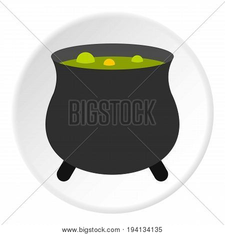 Boiler sorcerer icon in flat circle isolated vector illustration for web