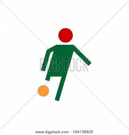 Soccer player flat vector illustration. Footballer isolated abstract silhouette. eps 10
