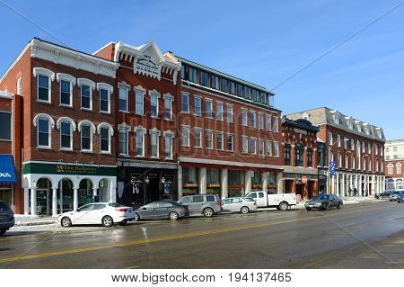 CONCORD, NH, USA - FEB. 24, 2015: Historic Building on Main Street in downtown Concord, New Hampshire, USA.