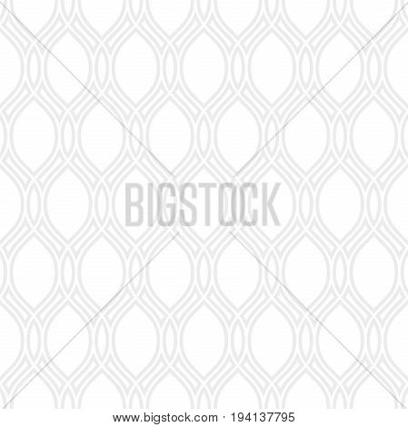 Seamless ornament. Modern background. Geometric pattern with repeating gray wavy lines