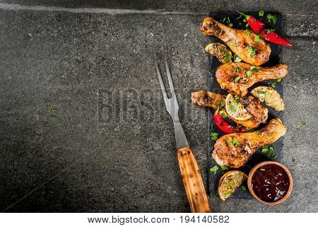 Grilled Chicken With Lemon And Chili Pepper
