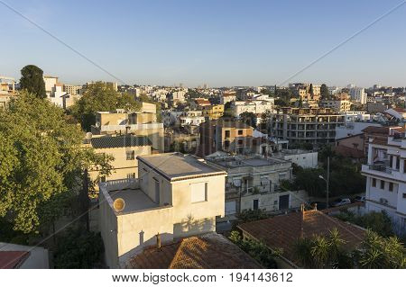 Algiers Algeria city view buildings africa old mediterranean maghreb capital city algerian architecture downtown mauresque heritage alger skyline village historic aged historical IMG1991
