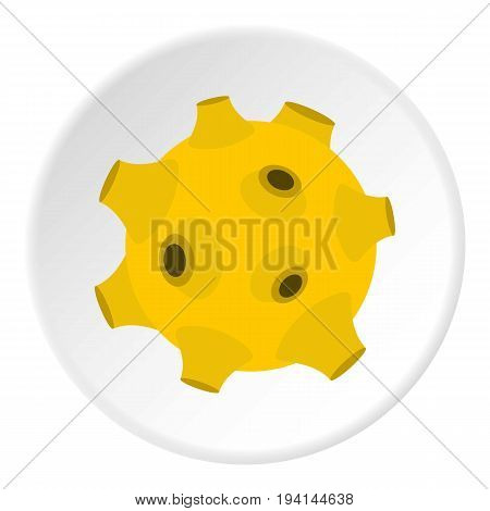 Full moon icon in flat circle isolated vector illustration for web