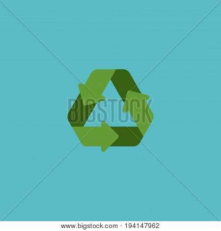 Flat Icon Recycle Element. Vector Illustration Of Flat Icon Conservation Isolated On Clean Background. Can Be Used As Conservation, Recycle And Reuse Symbols.