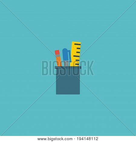 Flat Icon Drawing Tools Element. Vector Illustration Of Flat Icon Case Isolated On Clean Background. Can Be Used As Case, Drawing And Tools Symbols.