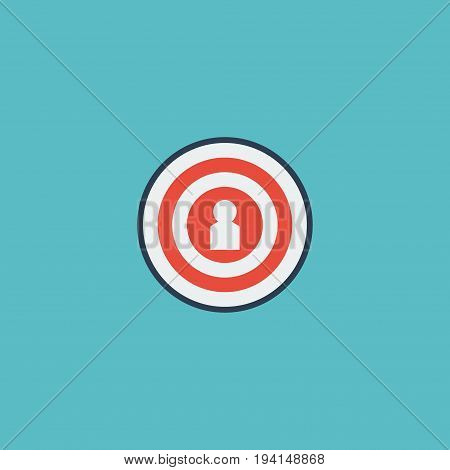 Flat Icon Target Element. Vector Illustration Of Flat Icon Audience Isolated On Clean Background. Can Be Used As Target, Audience And Dartboard Symbols.