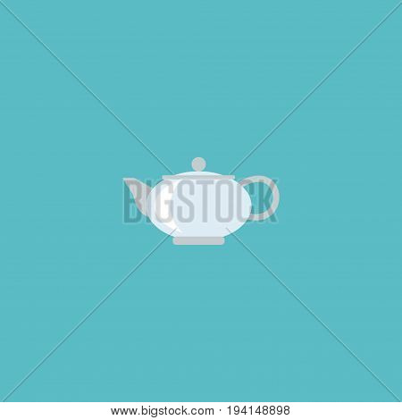 Flat Icon Kettle Element. Vector Illustration Of Flat Icon Teapot Isolated On Clean Background. Can Be Used As Kettle, Teapot And Pot Symbols.