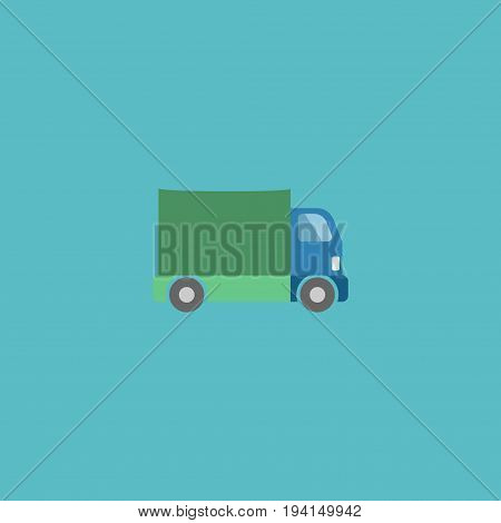 Flat Icon Truck Element. Vector Illustration Of Flat Icon Lorry Isolated On Clean Background. Can Be Used As Truck, Lorry And Freight Symbols.