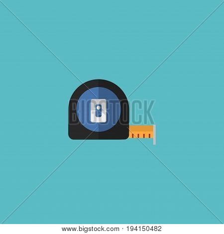 Flat Icon Tape Measure Element. Vector Illustration Of Flat Icon Roll Meter Isolated On Clean Background. Can Be Used As Tape, Measure And Meter Symbols.
