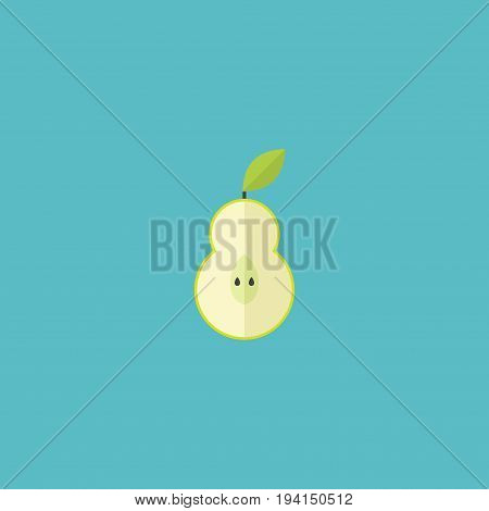 Flat Icon Pear Element. Vector Illustration Of Flat Icon Duchess Isolated On Clean Background. Can Be Used As Pear, Duchess And Fruit Symbols.