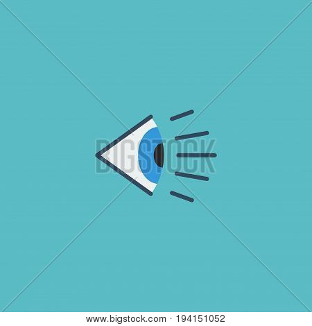 Flat Icon Vision Element. Vector Illustration Of Flat Icon Eye  Isolated On Clean Background. Can Be Used As Vision, Look And See Symbols.
